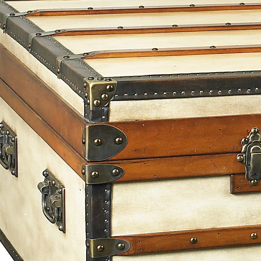 Steamer Trunk Coffee Table Small