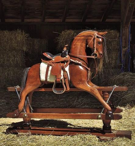 1950s Wild West Wood Rocking Horse