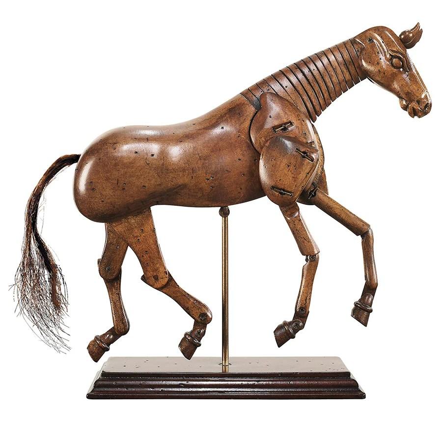 Renaissance Era Wooden Horse Sculpture. Small   Wood Horse