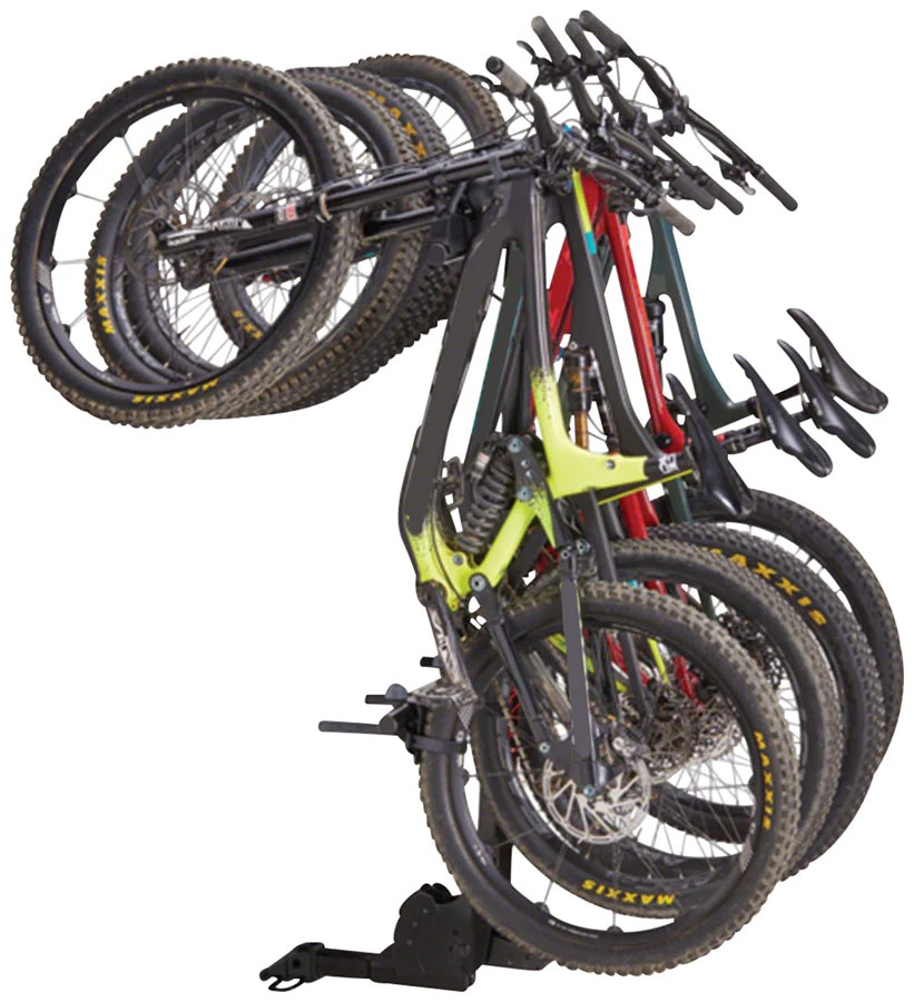 yakima hangover hitch bike rack 4 bike 2 receiver black