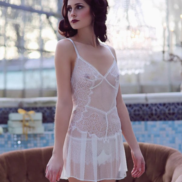 Shell Belle Couture Love Story Lace Short Slip In Crme At