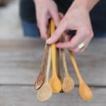 Long Handled Wood Tasting Spoons Wood Spoons