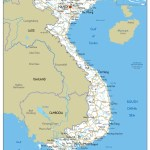 Vietnam Physical Map A1 Size 59 4 X 84 1 Cm Paper Laminated Maps