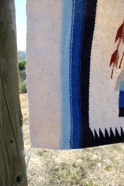 Large Vintage Native American Yei Wall Hanging Rug