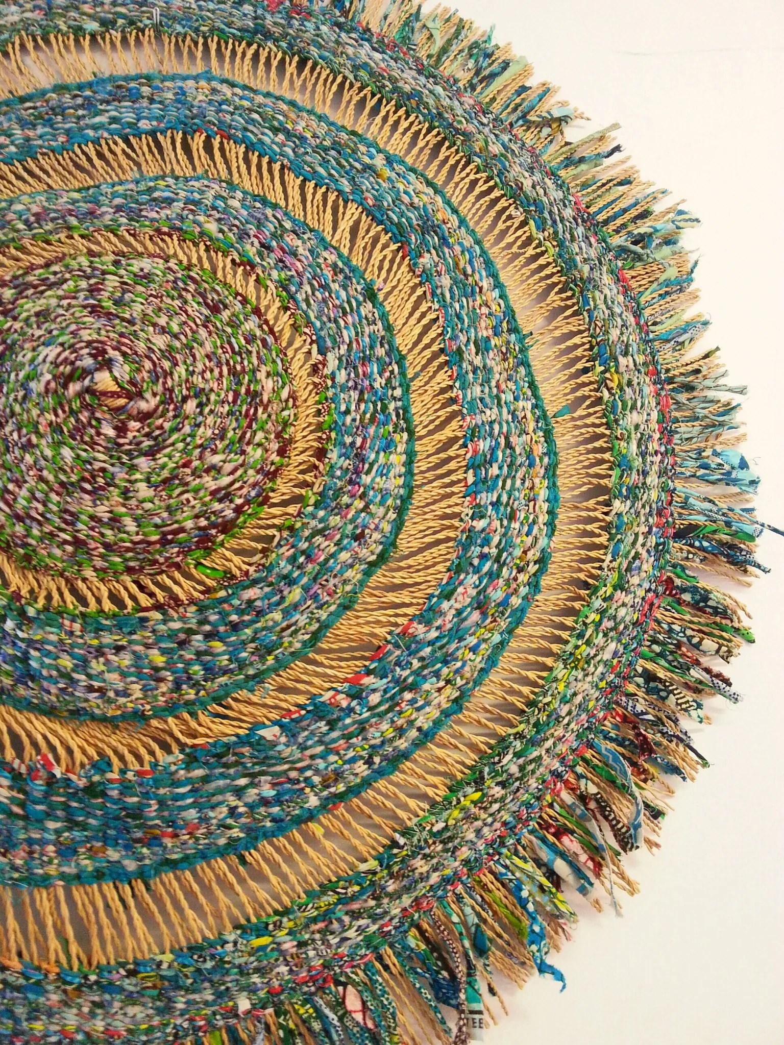 Woven Fibre Art Piece Large Ghana Africa -lish