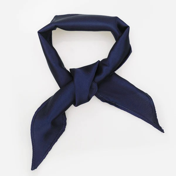 Rock n Rose EDIE Navy Silk Neck Tie Choker