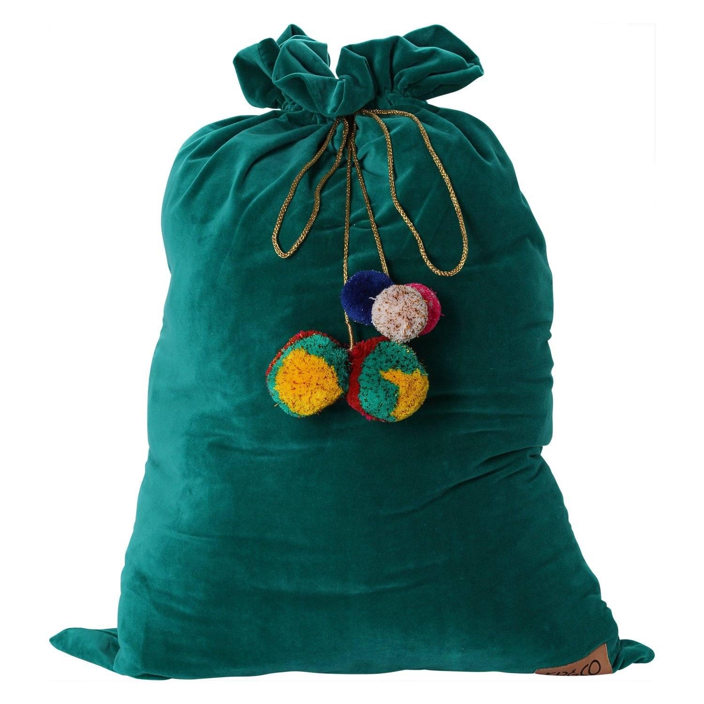 jade green velvet santa