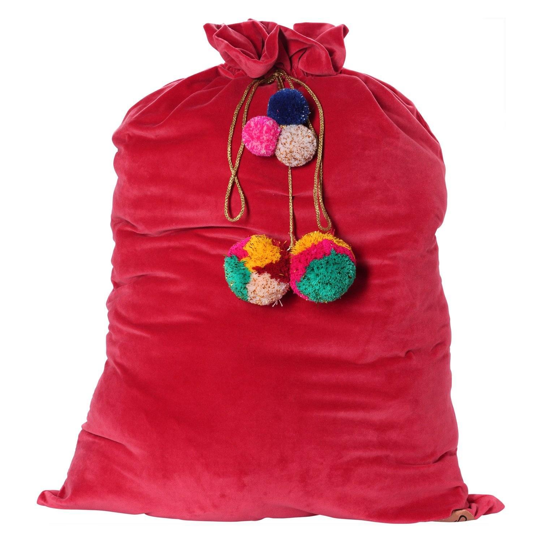 red velvet santa sack
