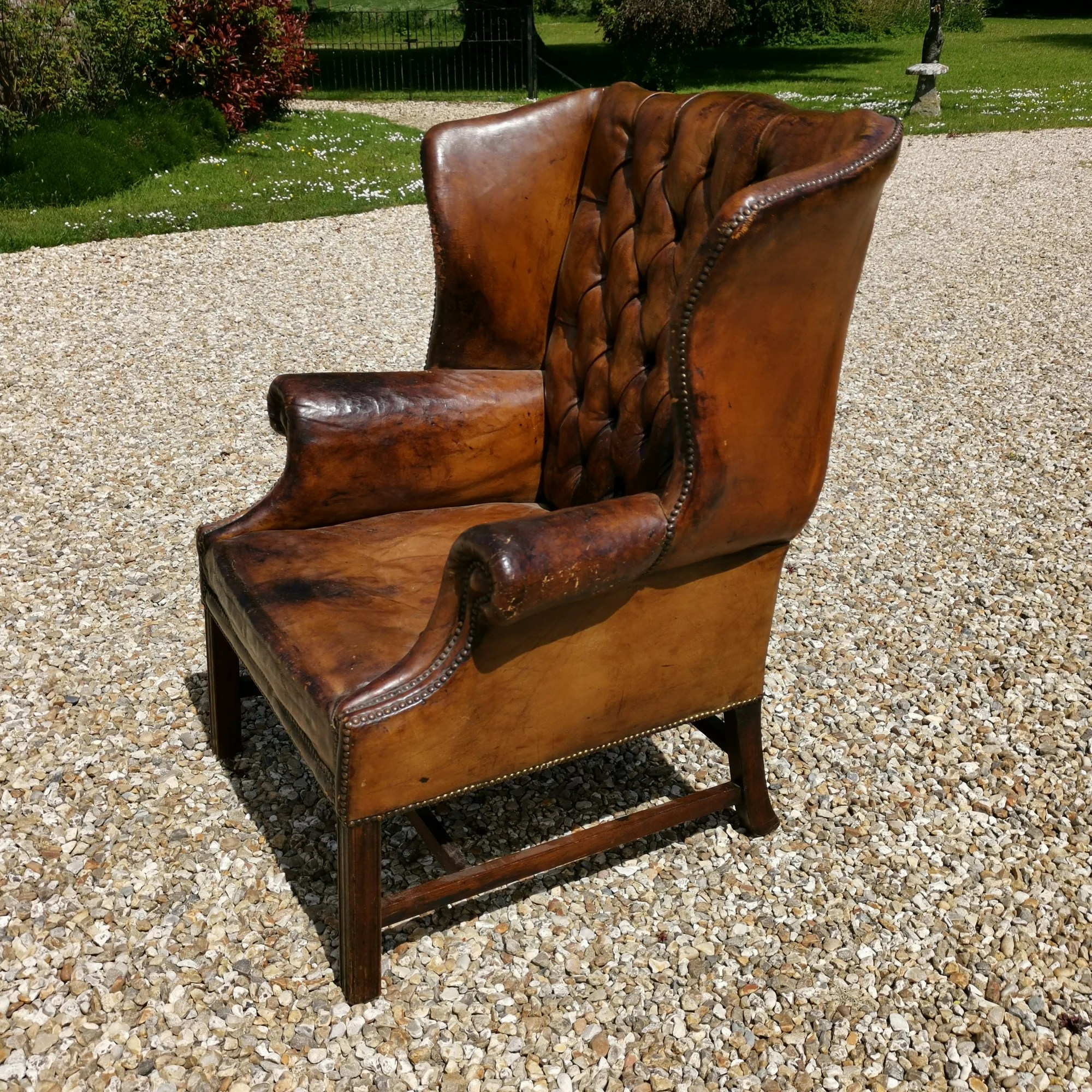 Brown Leather Wingback Chair Leather Wingback Chair