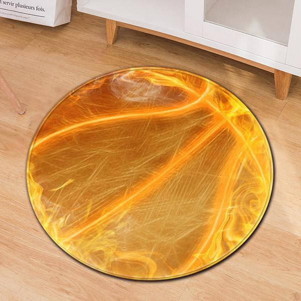 tapis rond orange mon tapis rond