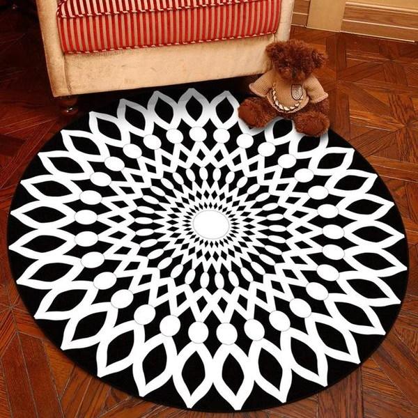 tapis rond geometrique mon tapis rond