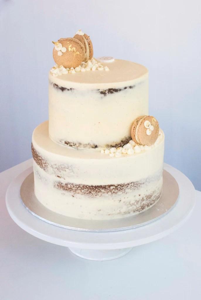 2 Tiered Macaron Wedding Cake