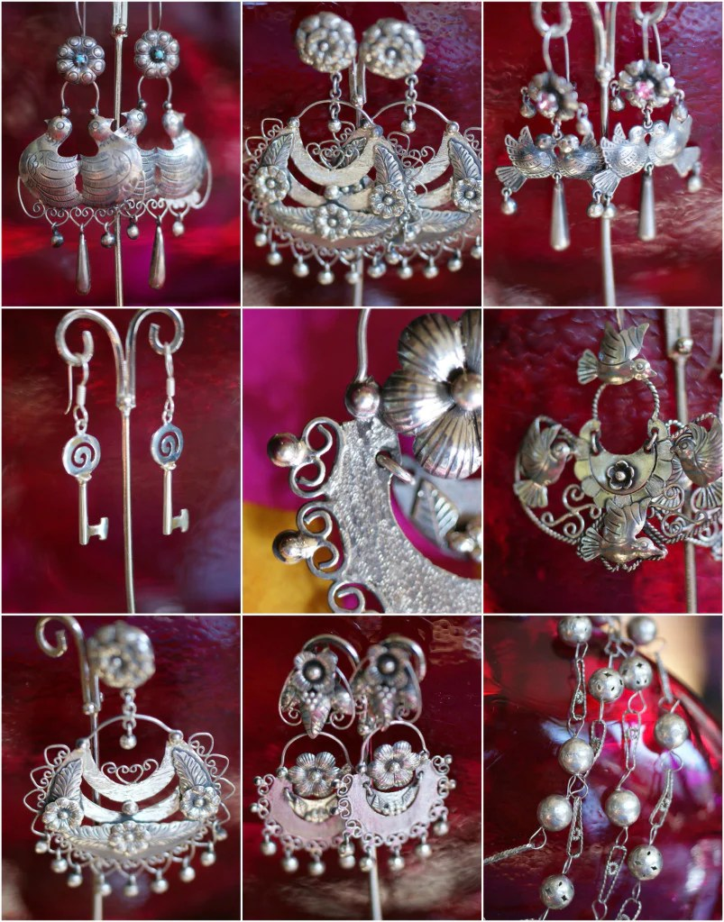 Traditional Mexican Silver Jewelry Zinnia Folk Arts