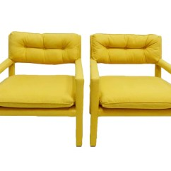 Yellow Parsons Chair Rentals Brooklyn Parson Armchairs Milo Baughman Thayer Coggin
