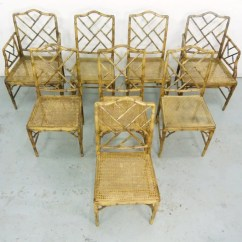 Chinese Chippendale Chairs Rocking Chair Cushion Pattern Faux Bamboo Style Dining   Oneandhome
