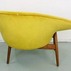 Fried Egg Chair Navy Blue Velvet Club Hans Olsen Bramin Denmark Danish Modern