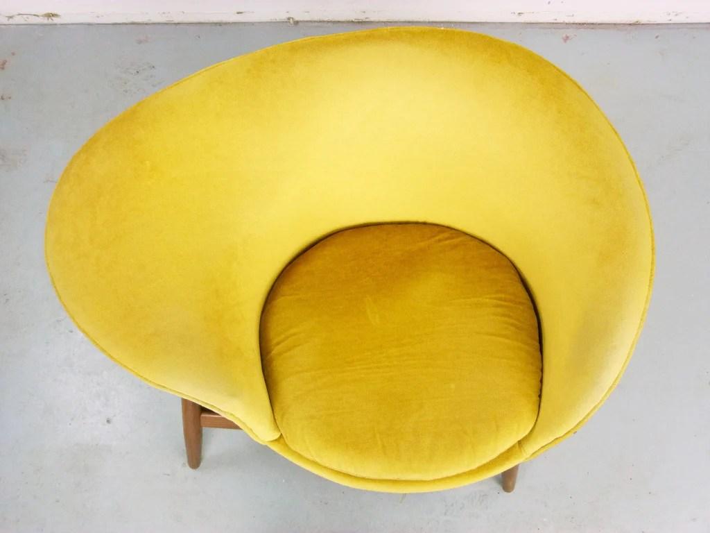 fried egg chair for standing desk hans olsen bramin denmark danish modern
