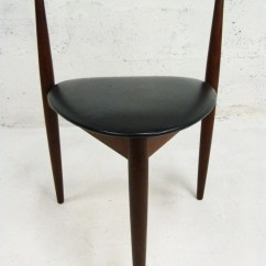 Adrian Pearsall Chair Steel Covers Hans Olsen For Frem Rojle Teak 3 Leg Triangle Danish Modern Dining Chairs - Pair | One And Home ...