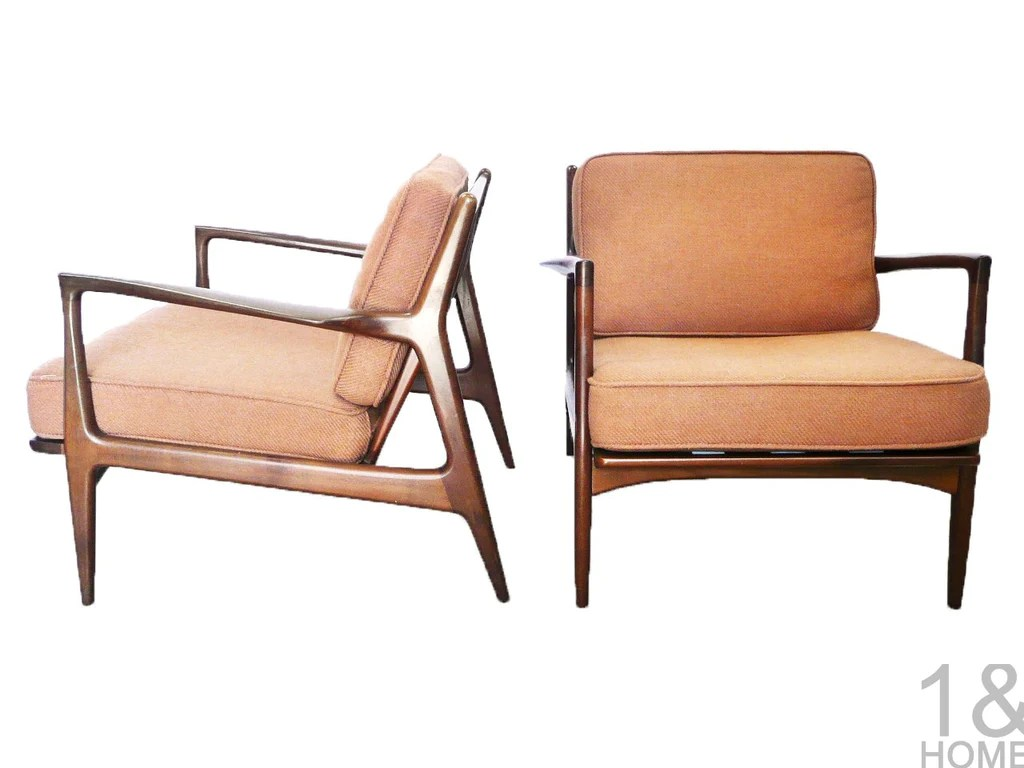Selig Lounge Chair Ib Kofod Larsen For Selig Danish Modern Lounge Chairs