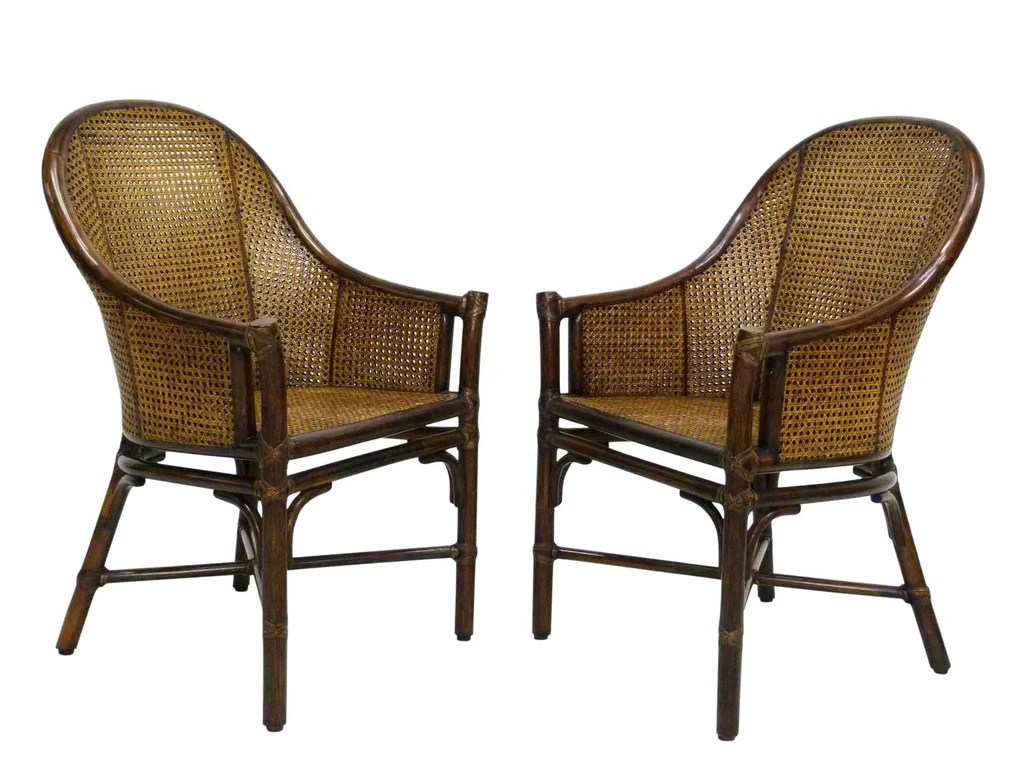 how do you cane a chair rocking pads with ties bamboo and chairs by mcguire pair oneandhome