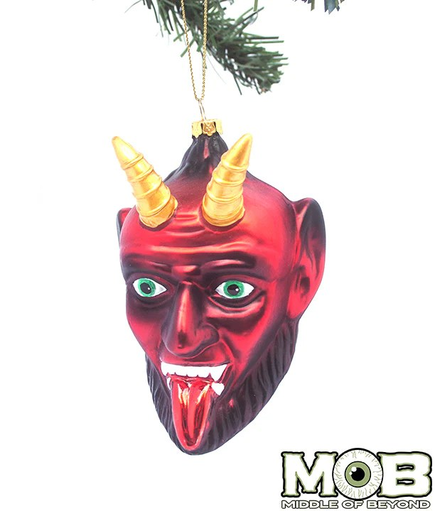 Krampus The Christmas Devil Glass Ornament Middle Of Beyond