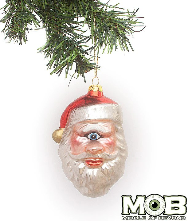 One Eyed Saint Nick Glass Ornament Middle Of Beyond