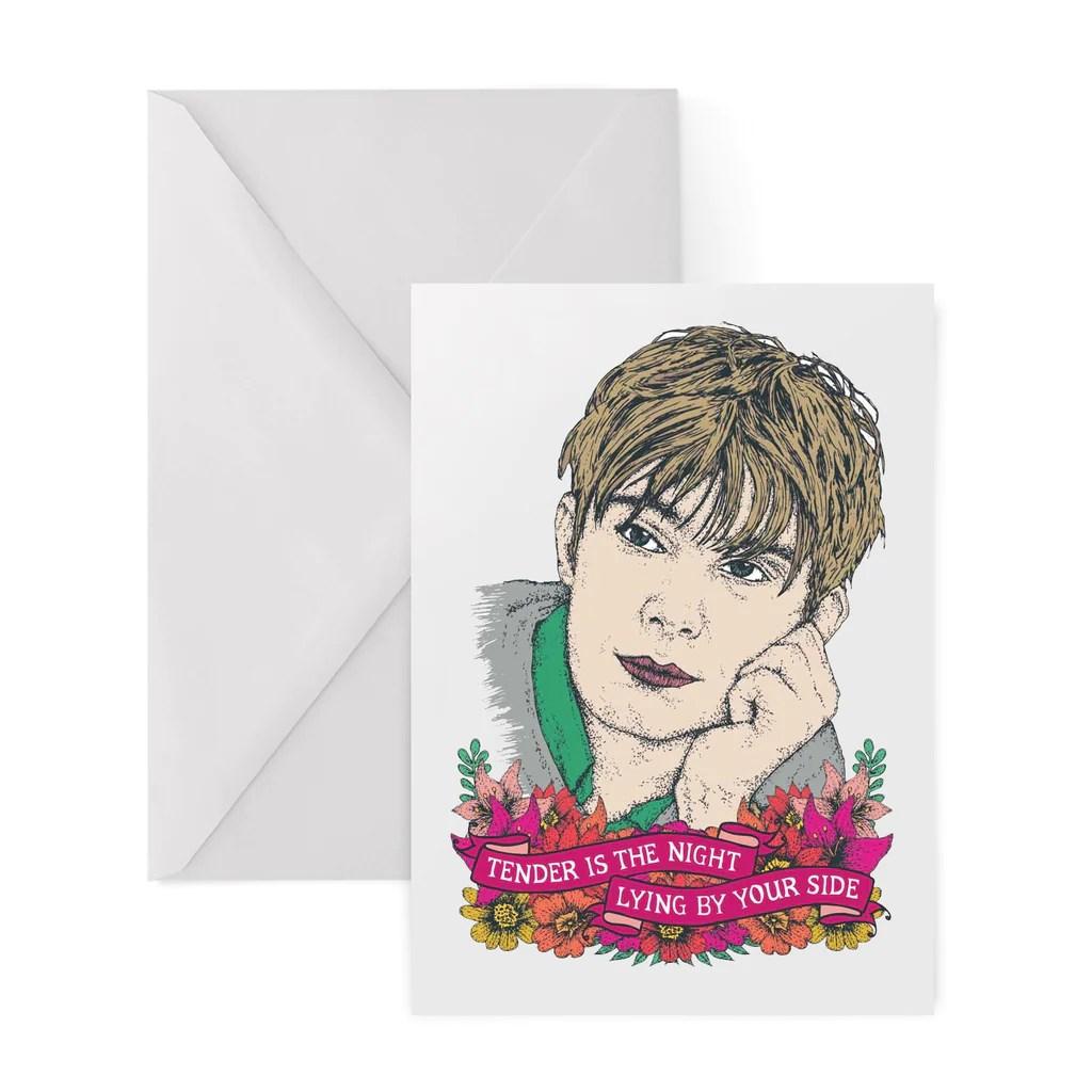 BLUR TENDER Greetings Card  LA LA LAND
