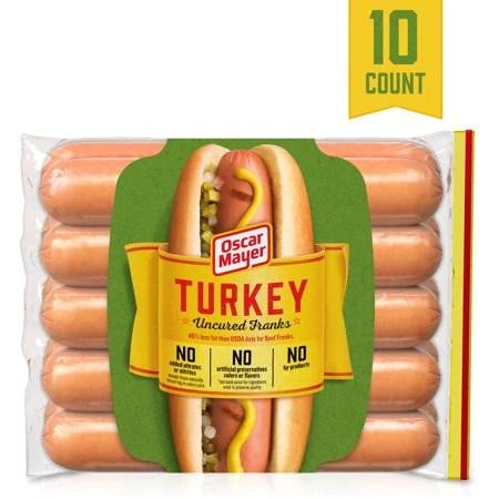 oscar mayer uncured turkey hot dogs 10 ct 16 0 oz package