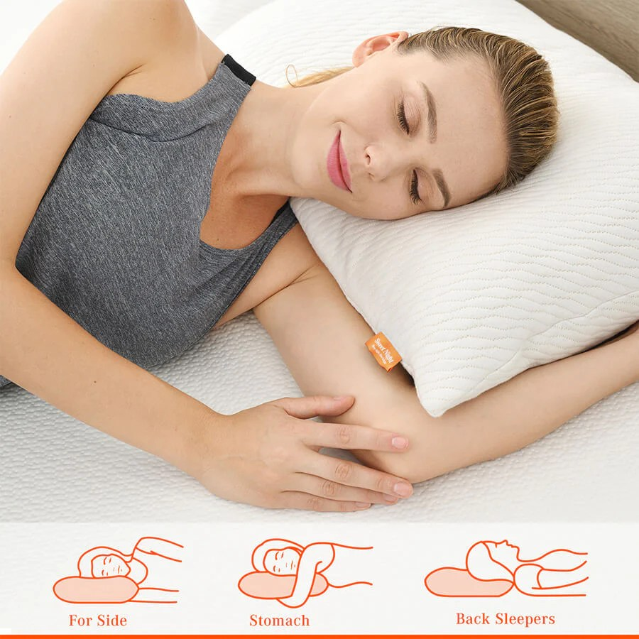 the bamboo our bamboo charcoal memory foam adjustable pillow