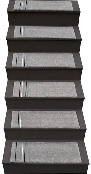 Stix – Liza Phillips Design   Grey Carpet Treads For Stairs   Bullnose Carpet   Flooring   Magma Grey   Skid Resistant   Carpet Runner