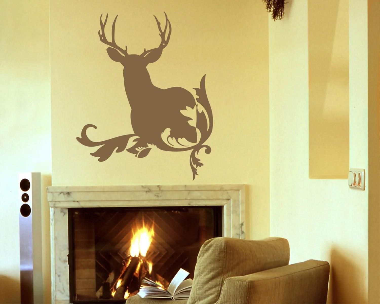 Deer Silhouette Vinyl Wall Decal Tweetheartwallart | iltribuno.com