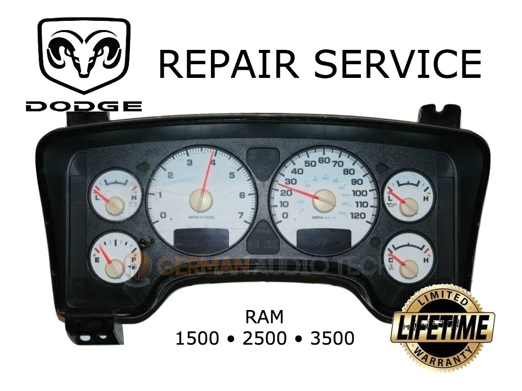 medium resolution of repair service for dodge ram 1500 2500 3500 truck gm rpm gauge 2003 2004 2005 2006