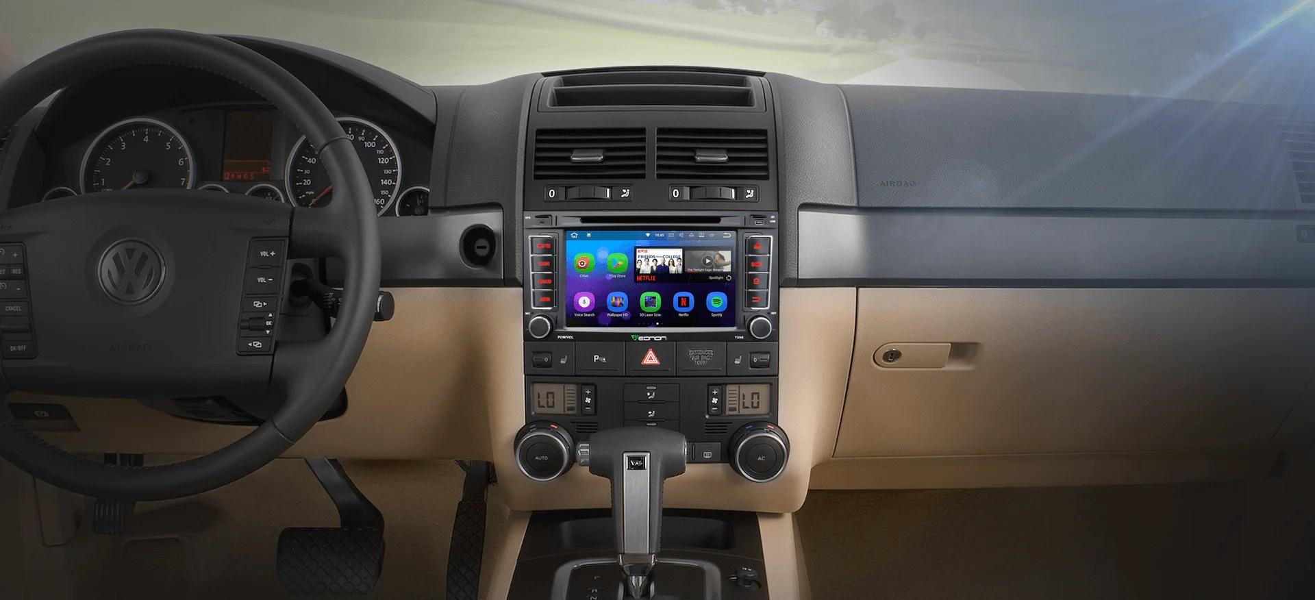 volkswagen vw touareg transporter 7 digital touch screen android ios multimedia car dvd gps [ 1920 x 876 Pixel ]