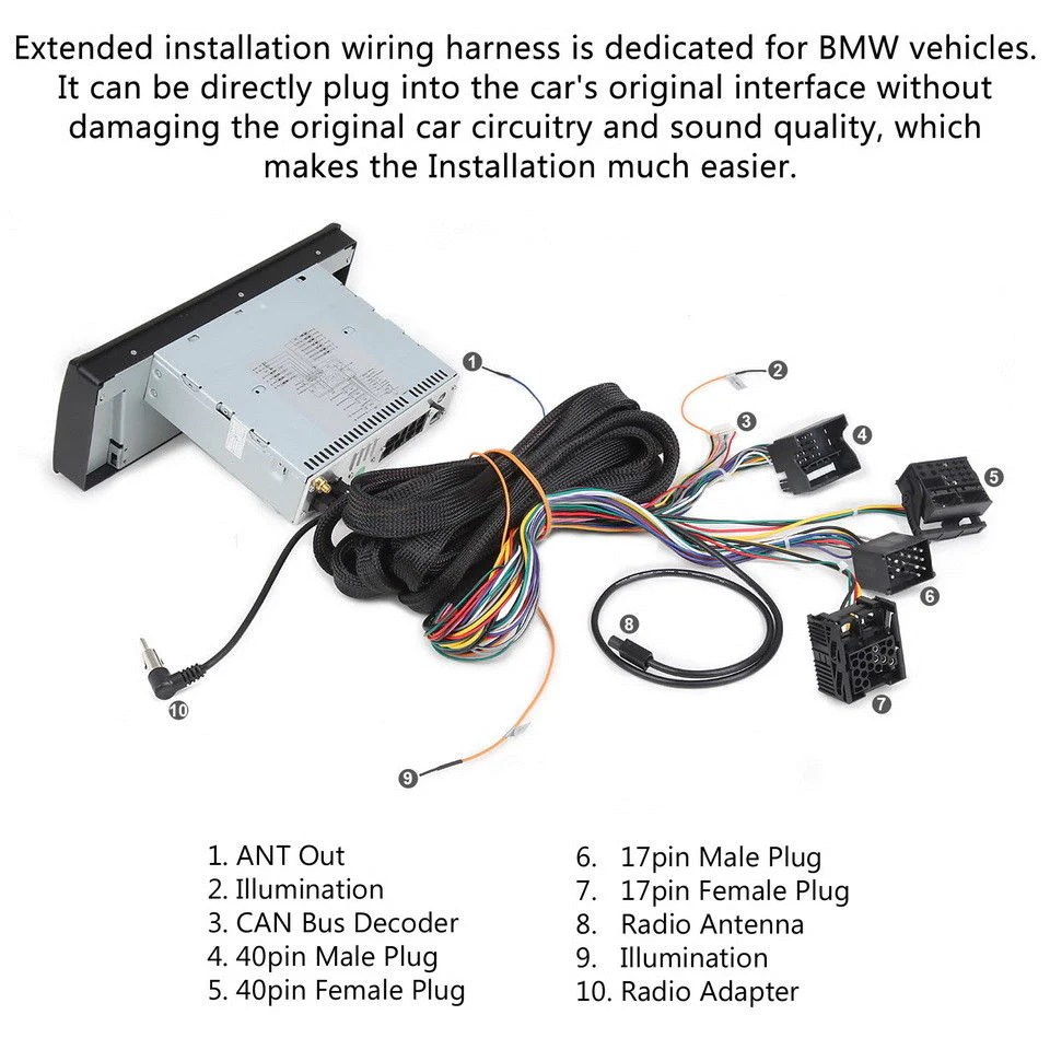 medium resolution of extension cable for bmw e46 3 series e39 5 series e53 x5 with aftermarket