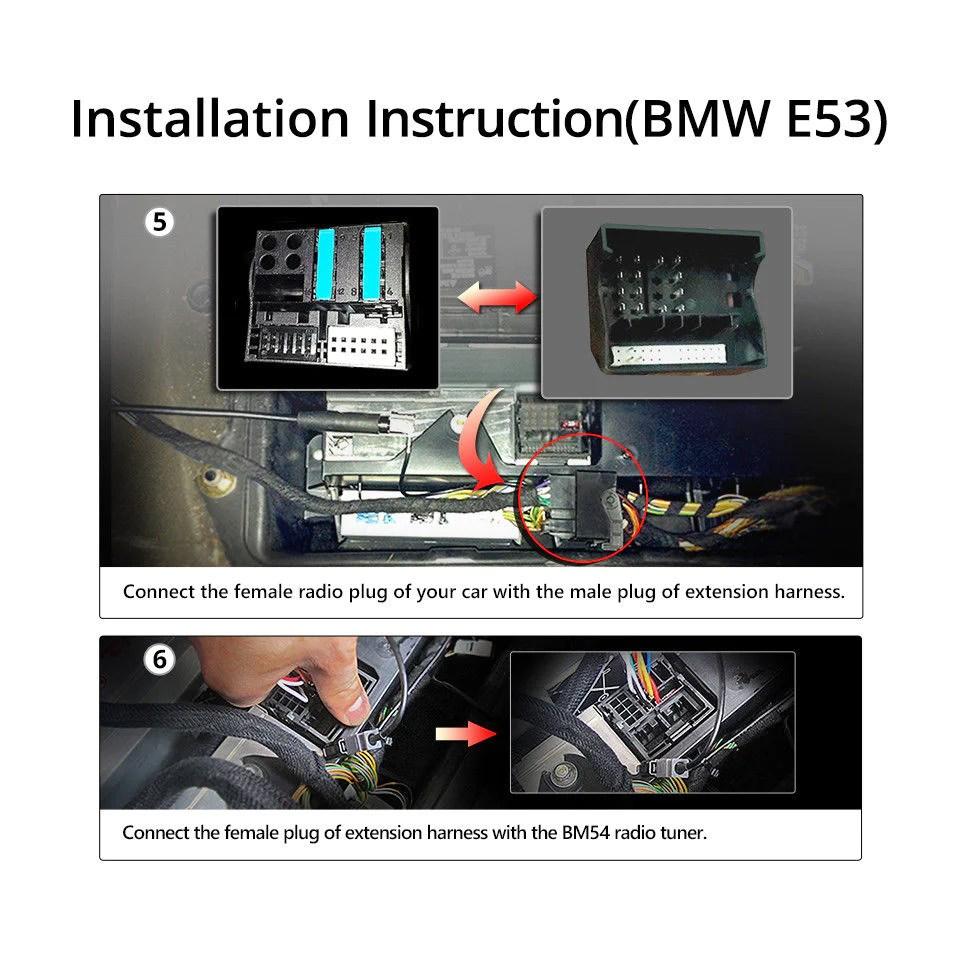 a0582 bmw e46 e39 e53 extended wiring harness 17pin 40pin for ga9150b ga9201b [ 960 x 960 Pixel ]