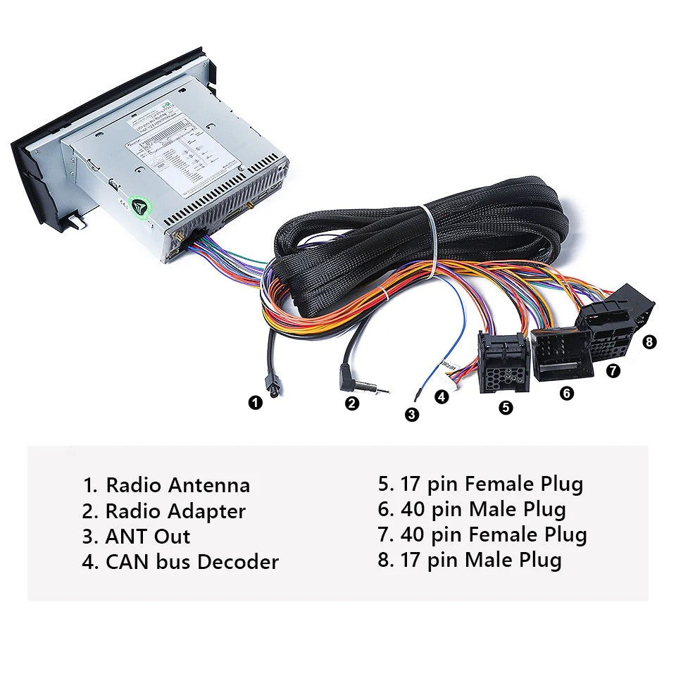 small resolution of a0582 bmw e46 e39 e53 extended wiring harness 17pin 40pin for ga9150b ga9201b