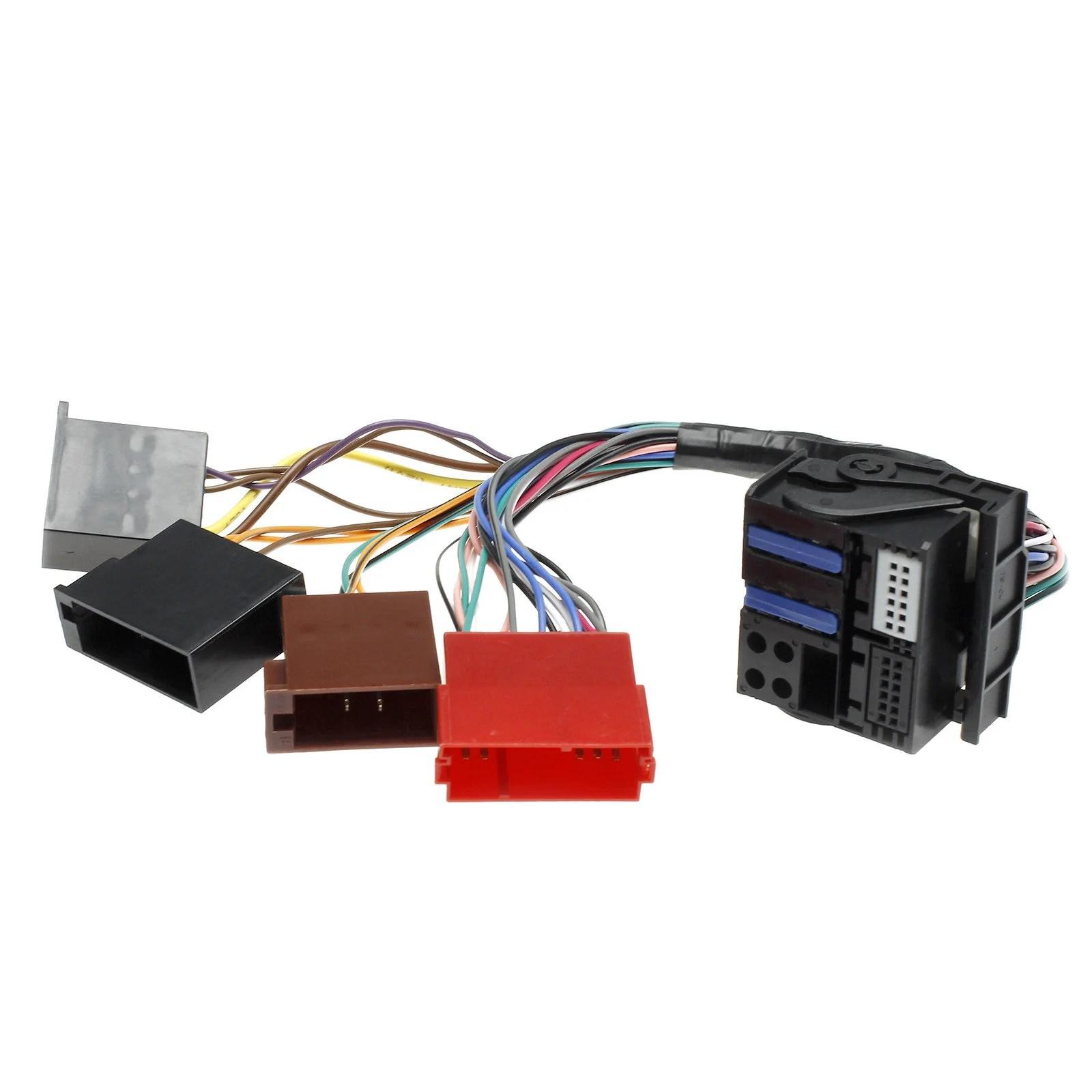 adapter wire harness for volkswagen vw premium 5 to premium 6 audi navigation plus rnse  [ 1600 x 1600 Pixel ]