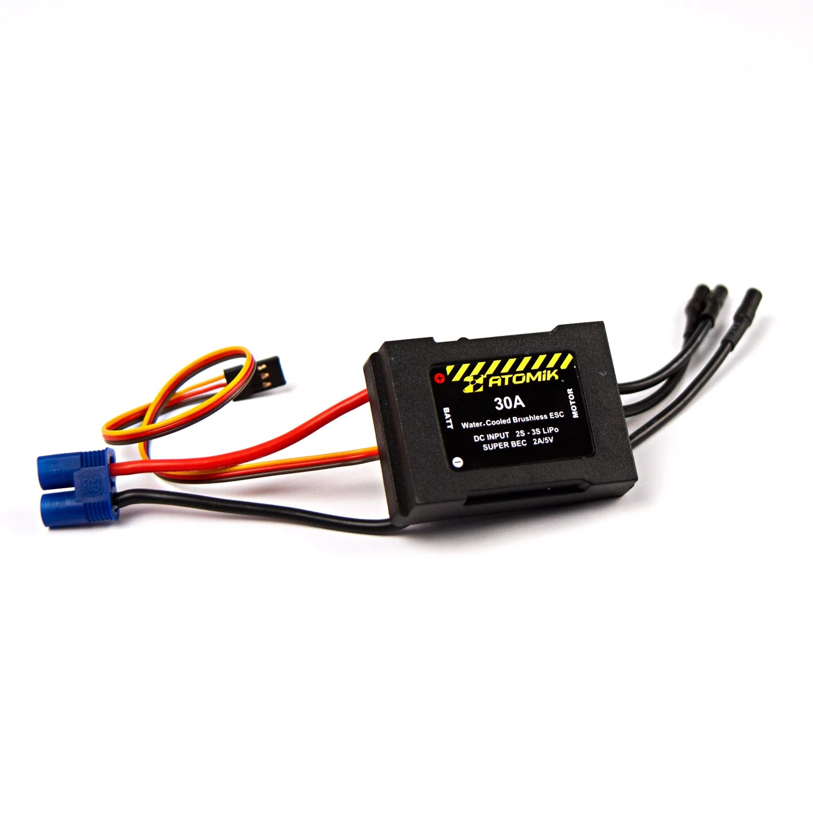 small resolution of atomik rc 30a water cooled brushless esc for barbwire 1