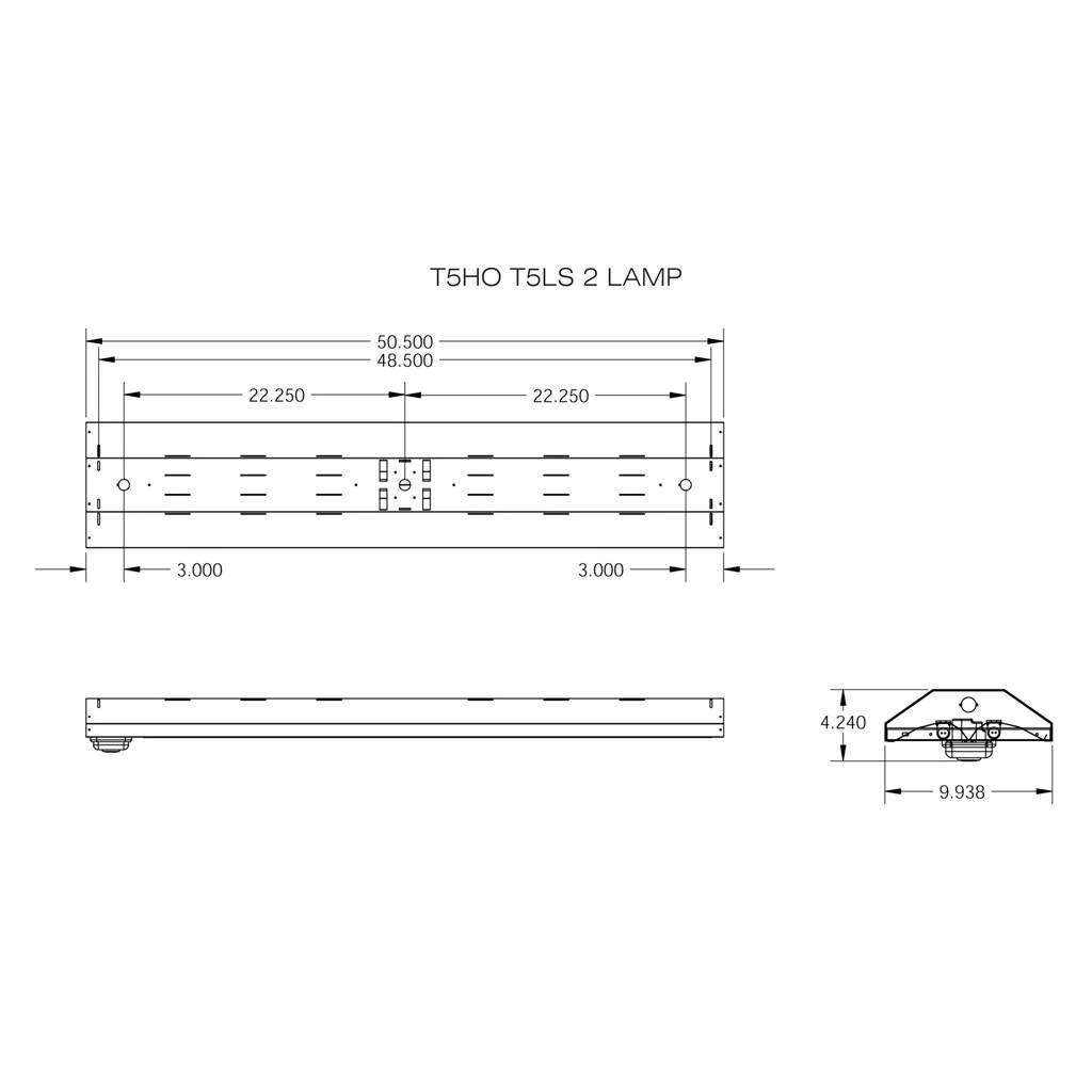 t5ho fluorescent t5ls 2 3 4 lamp linear lighting fixture with sensor [ 1024 x 1024 Pixel ]