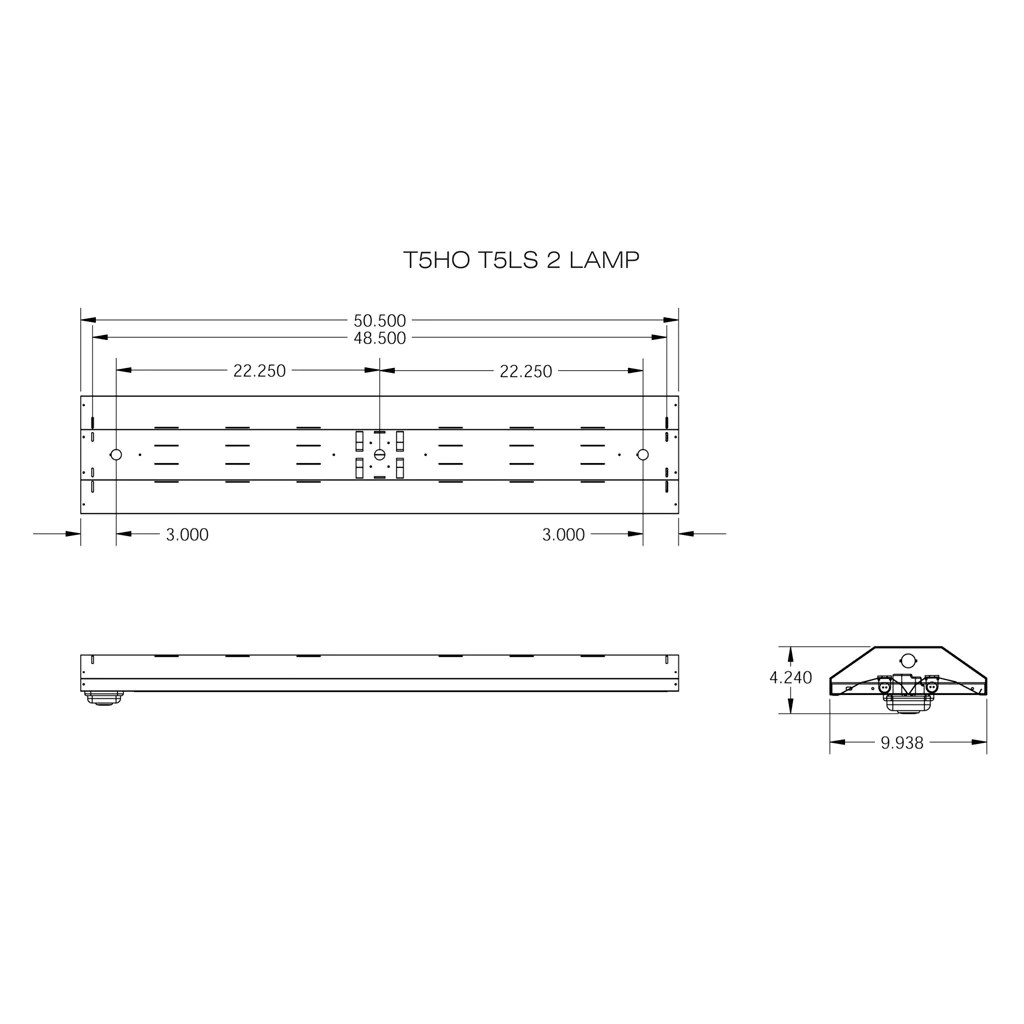 hight resolution of t5ho fluorescent t5ls 2 3 4 lamp linear lighting fixture with sensor