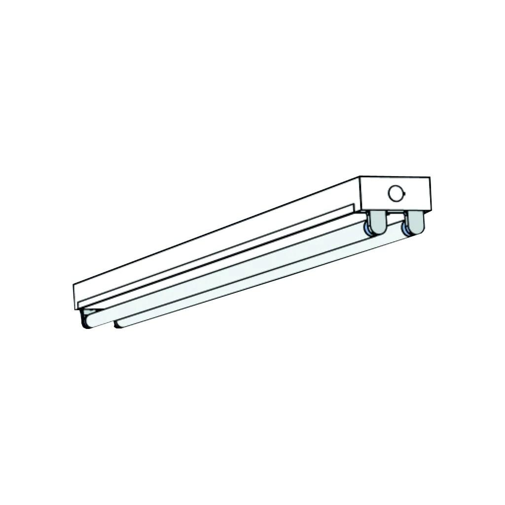 medium resolution of t8 fluorescent t8st 1 2 4 lamp mini strip 4 8 feet lighting fixtures
