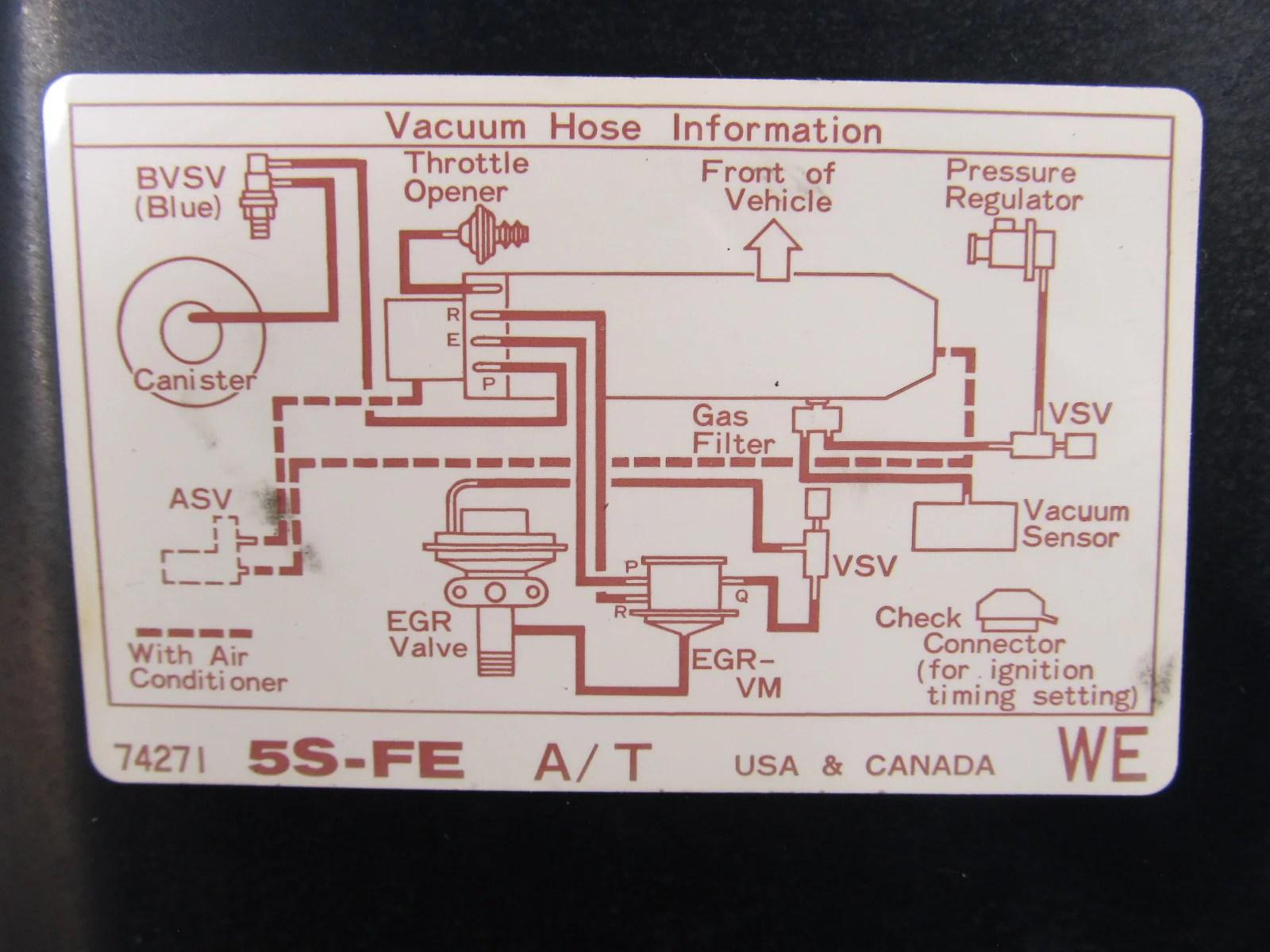 medium resolution of 91 mr2 2 2l 5sfe at vacuum hose diagram information