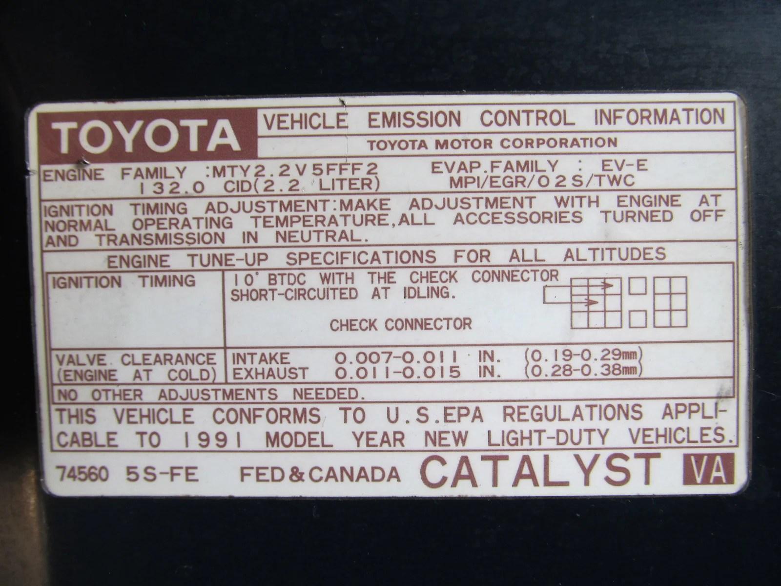 91 mr2 2 2l 5sfe at vehicle emission control information diagram [ 1600 x 1200 Pixel ]
