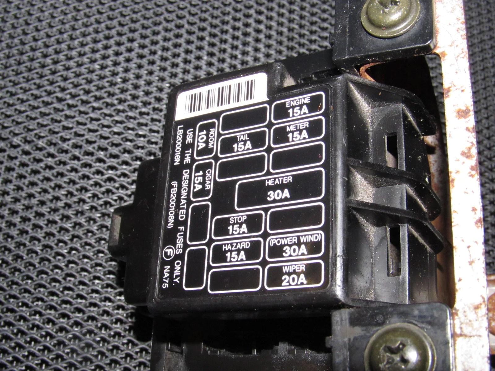 90 Miata Fuse Box Free Download Wiring Diagrams Schematics Camry Mx5 Mk1 Air Compressor Harness Santa Fe 1995 Cover