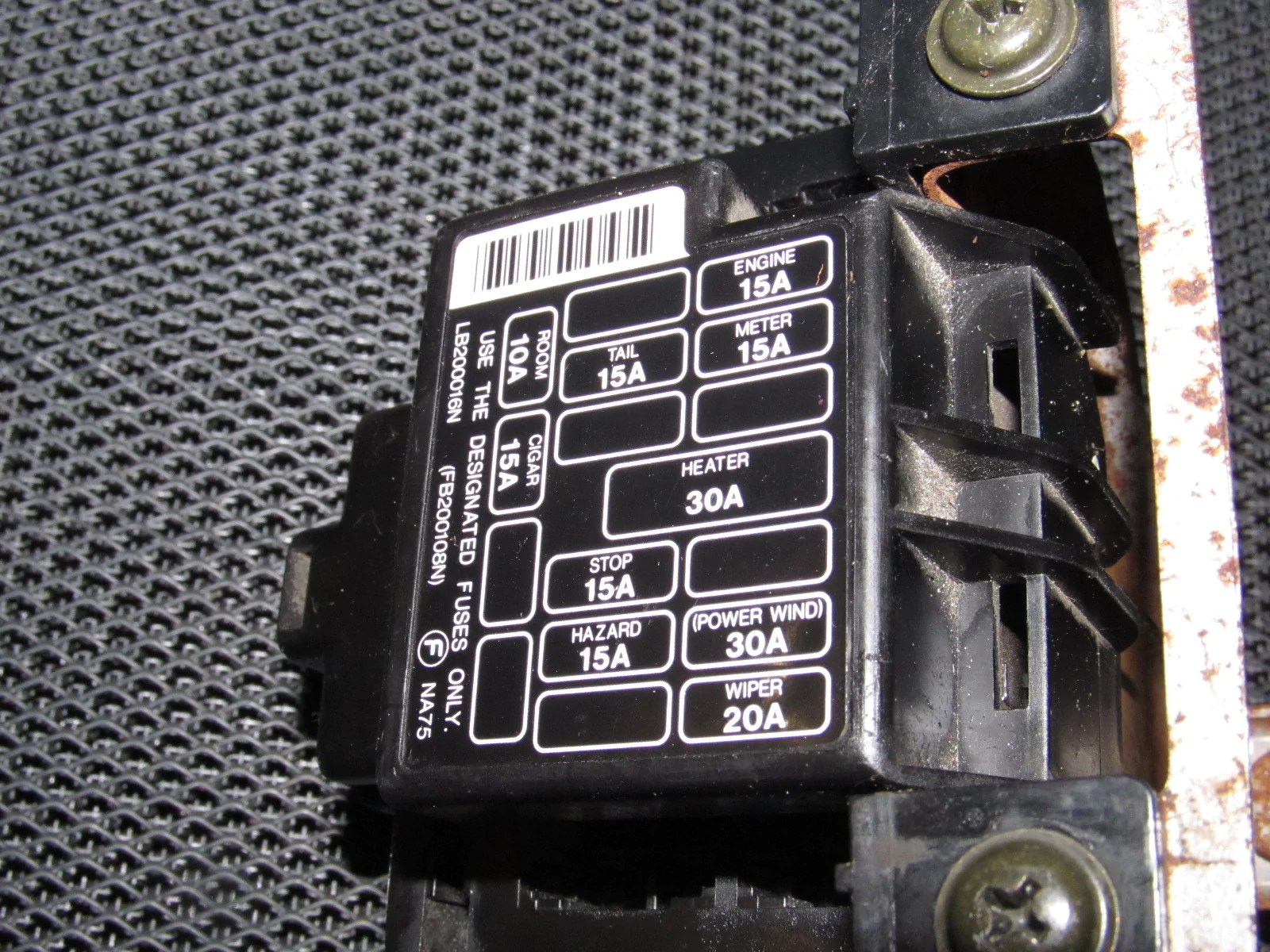 miata fuse box electrical wiring diagram94 95 96 97 mazda miata oem interior fuse box  [ 1600 x 1200 Pixel ]