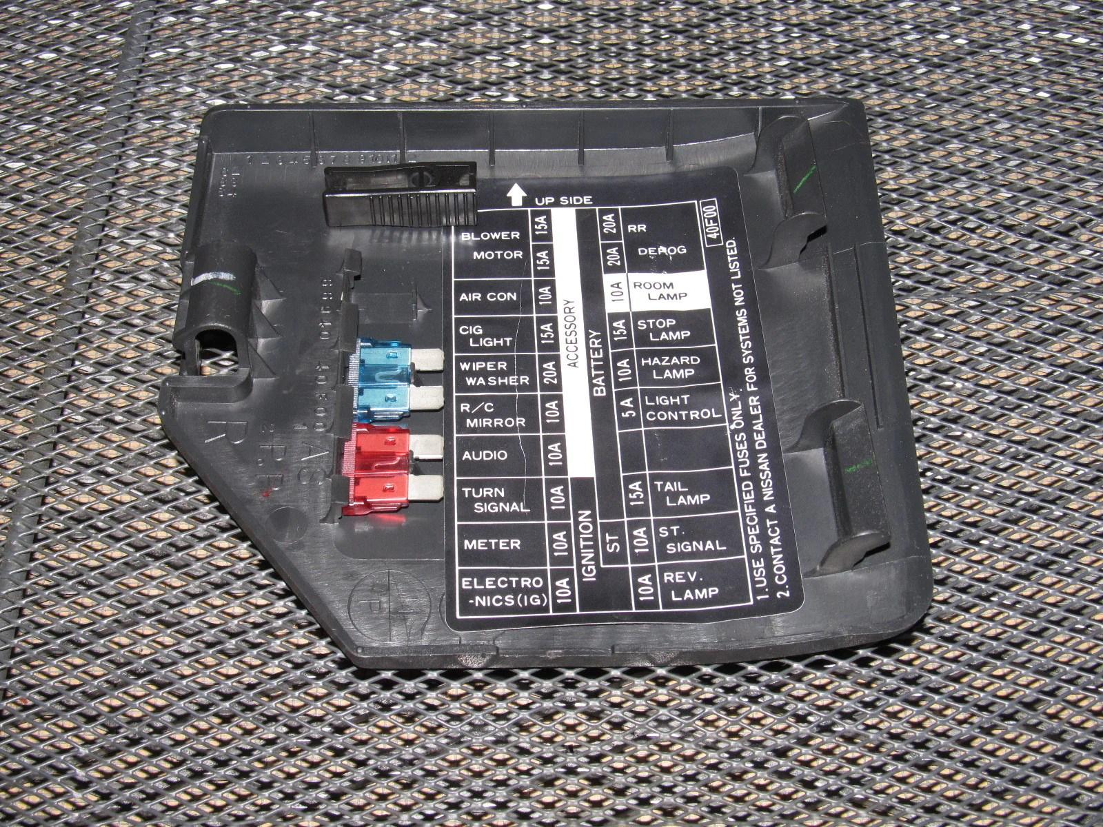 hight resolution of 91 92 93 94 nissan 240sx oem interior fuse box cover u2013 autopartone com 2005