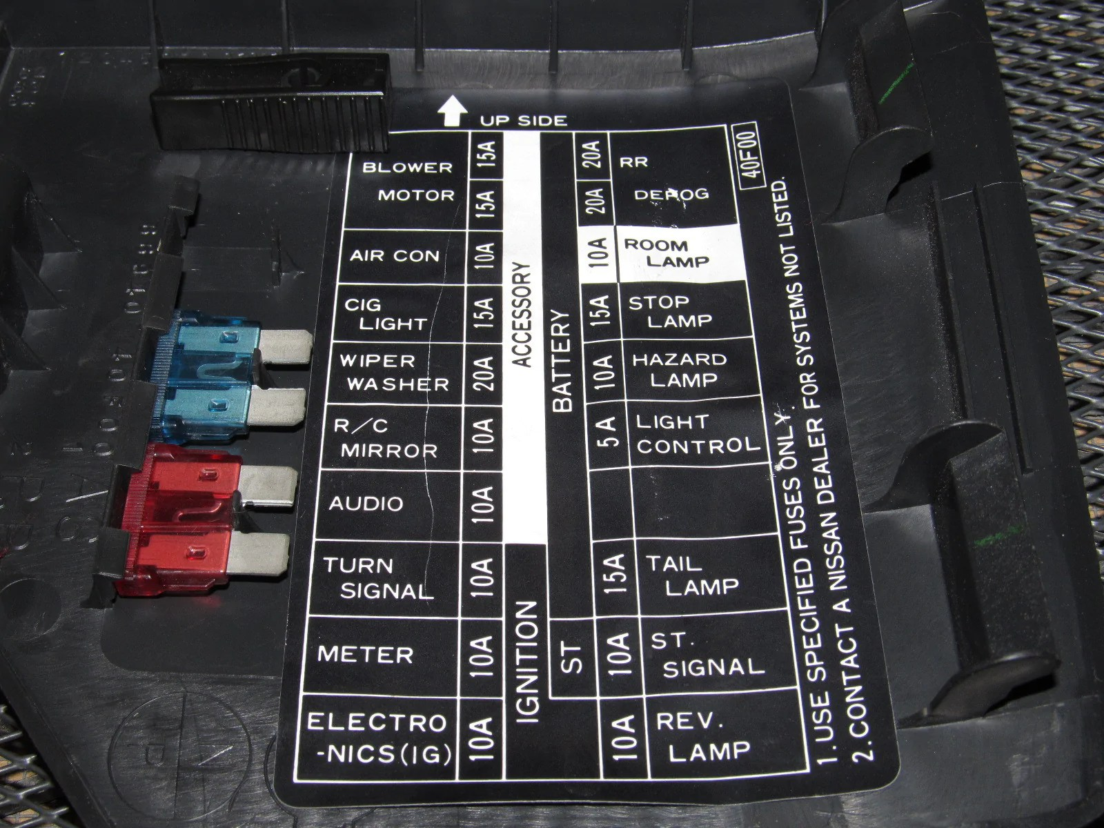 medium resolution of 91 92 93 94 nissan 240sx oem interior fuse box cover autopartone com rh autopartone com