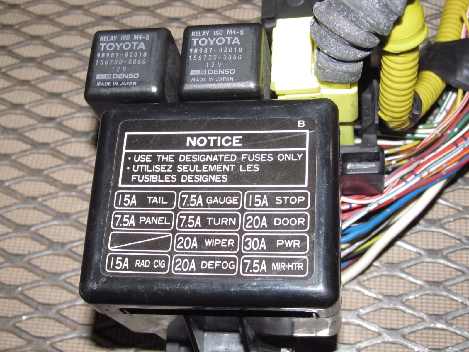 medium resolution of  91 92 93 94 95 toyota mr2 oem interior dash fuse box