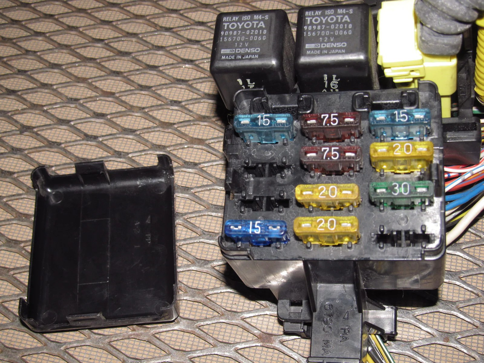 medium resolution of 91 92 93 94 95 toyota mr2 oem interior dash fuse box u2013 autopartone com91