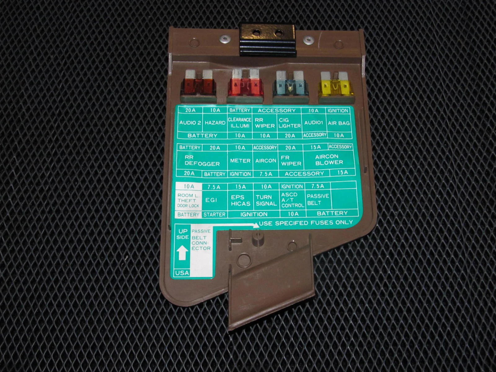 hight resolution of 90 96 nissan 300zx oem brown interior fuse box cover autopartone com 1990 300zx fuse diagram 300zx fuse box